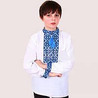 Вышиванка для мальчика с воротником стойка