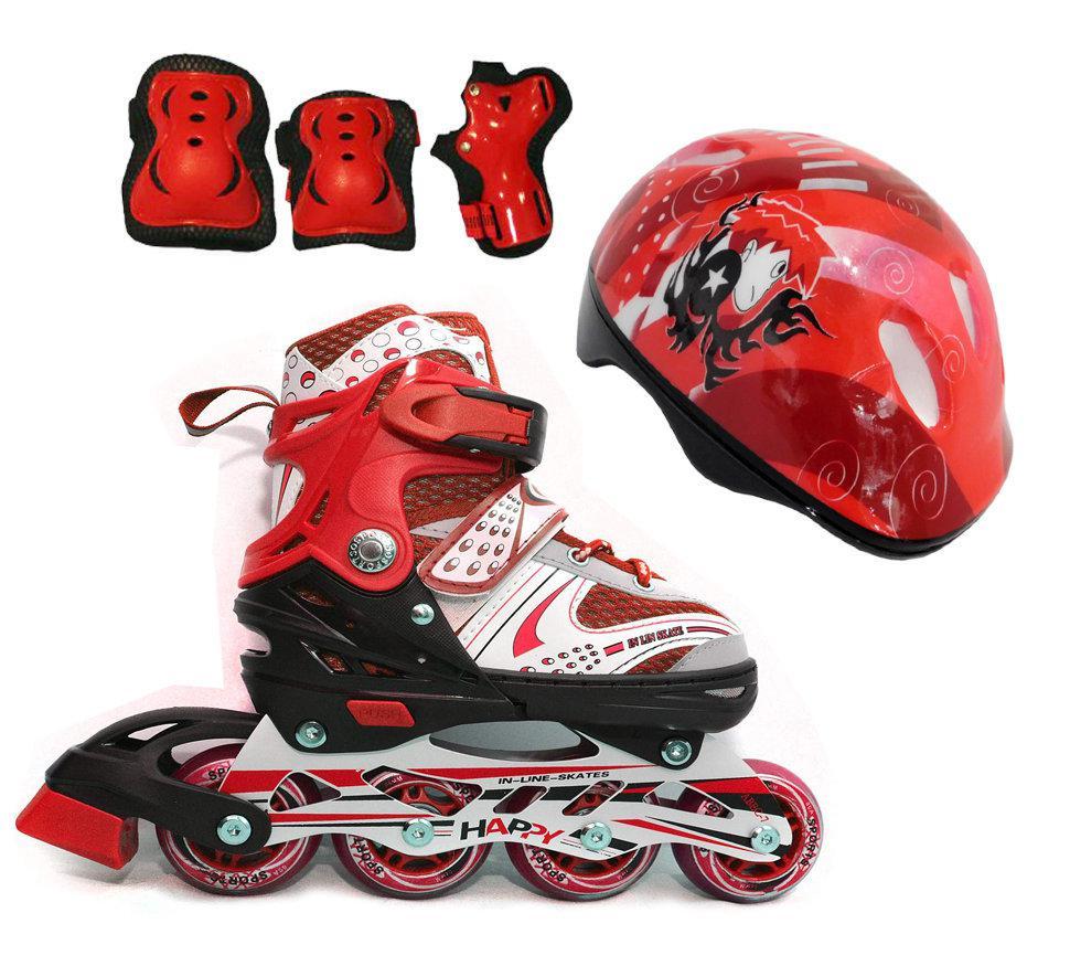 Роликовые коньки Maraton (набор) красный