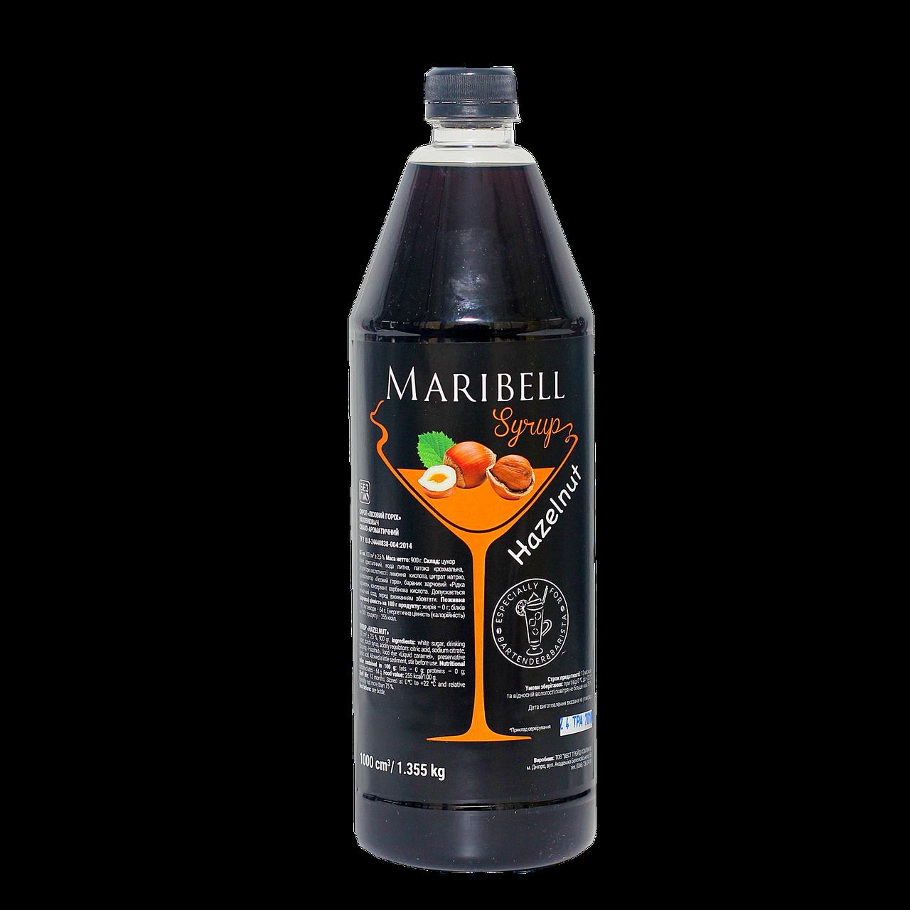 """Сироп коктейльный Maribell """"Лесной орех"""" 1л ПЭТ"""
