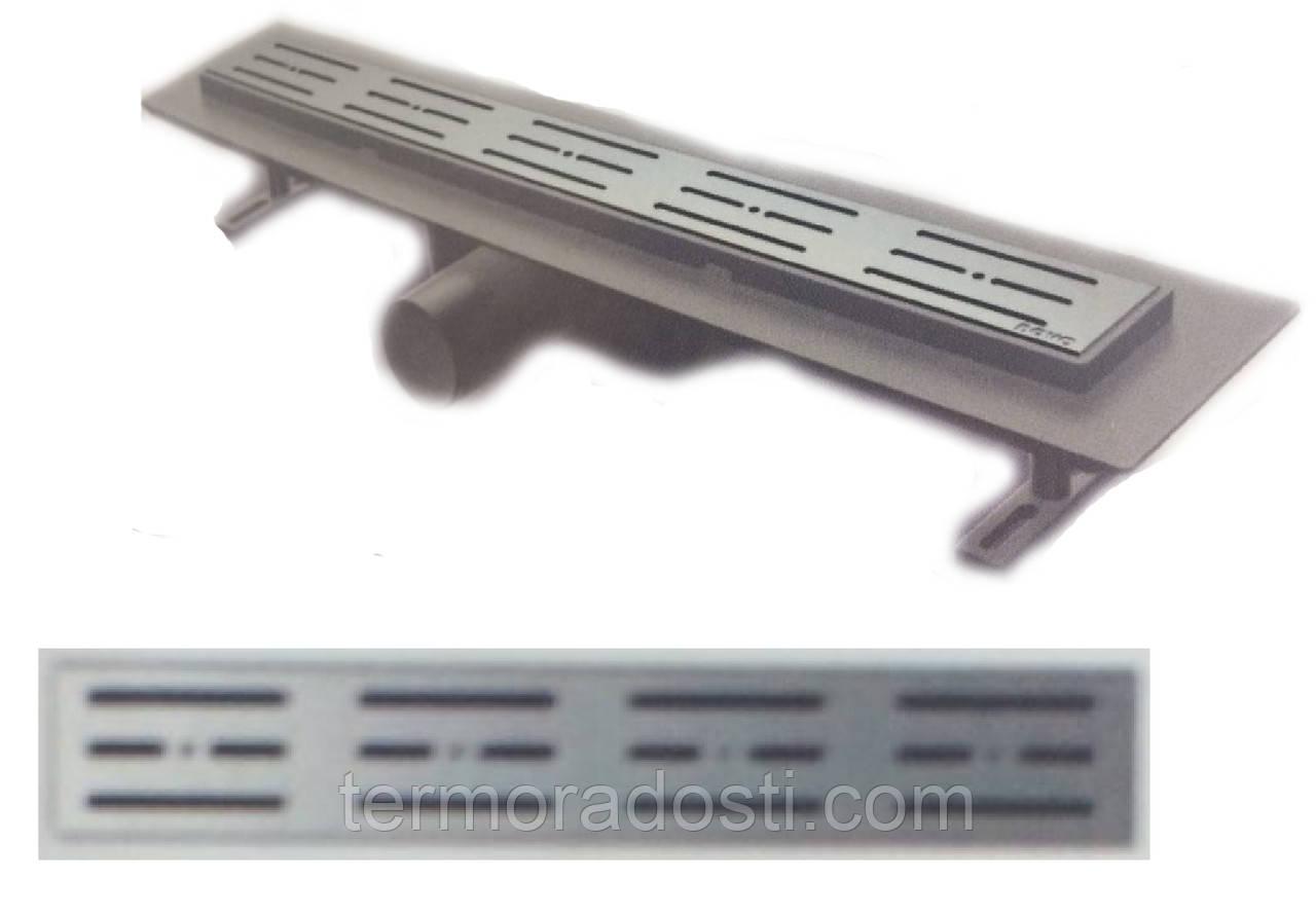 Душевой канал Nova 5205(001)N (длина 80 см.,площадка под плитку, горизонтальный выход, D 50)