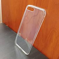Прозрачный ультратонкий силиконовый чехол для iPhone 7 Plus (Уценка)