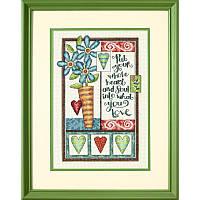 Набір для вишивання Dimensions 35189 Heart and Soul Cross Stitch Kit, фото 1