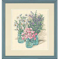 Набор для вышивания Dimensions 35122 Wildflower Trio Cross Stitch Kit, фото 1