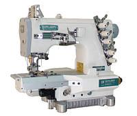 Siruba C007K-W812-356/CRL плоскошовная швейная машина (распошивалка) с цилиндрической платформой и устройством для левосторонней подрезки материала