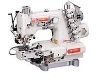 Siruba C007KD-W812A-356/CRL/UTP/CL/RL Плоскошовная швейная машина (распошивалка) с левосторонней подрезкой края материала, пулером для продвижения и