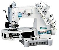 Siruba VC008-04085P/VCE/RL, VC008-04095P/VCE/RL, VC008-04127P/VCE/RL  Четырехигольная машина цепного стежка с цилиндрической платформой и роликами