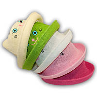 Шляпка соломенная детская с ушками