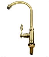 Кран на одну воду в бронзе 1-026, фото 1
