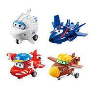 Супер крылья Самолеты-трансфоры Super Wings Transform-a-Bots 4 Pack Flip, Todd, Agent Chase, Astra