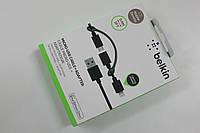 USB Cable Belkin 2 в 1 для iPhone 5 / 6 / 7 / 8 / X / iPad / iPod