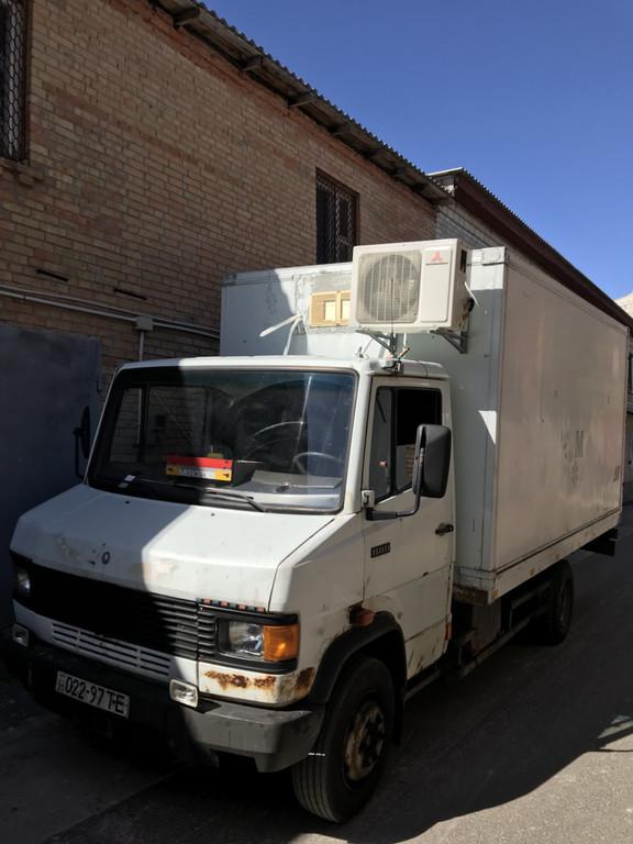 Установка кондиционера в машине для перевозки молочной продукции