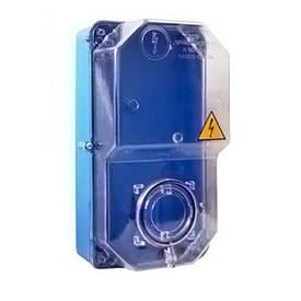 Коробка під 1-ф ліч. КДЕ-2 (їв. ліч) ударостійка (синя)