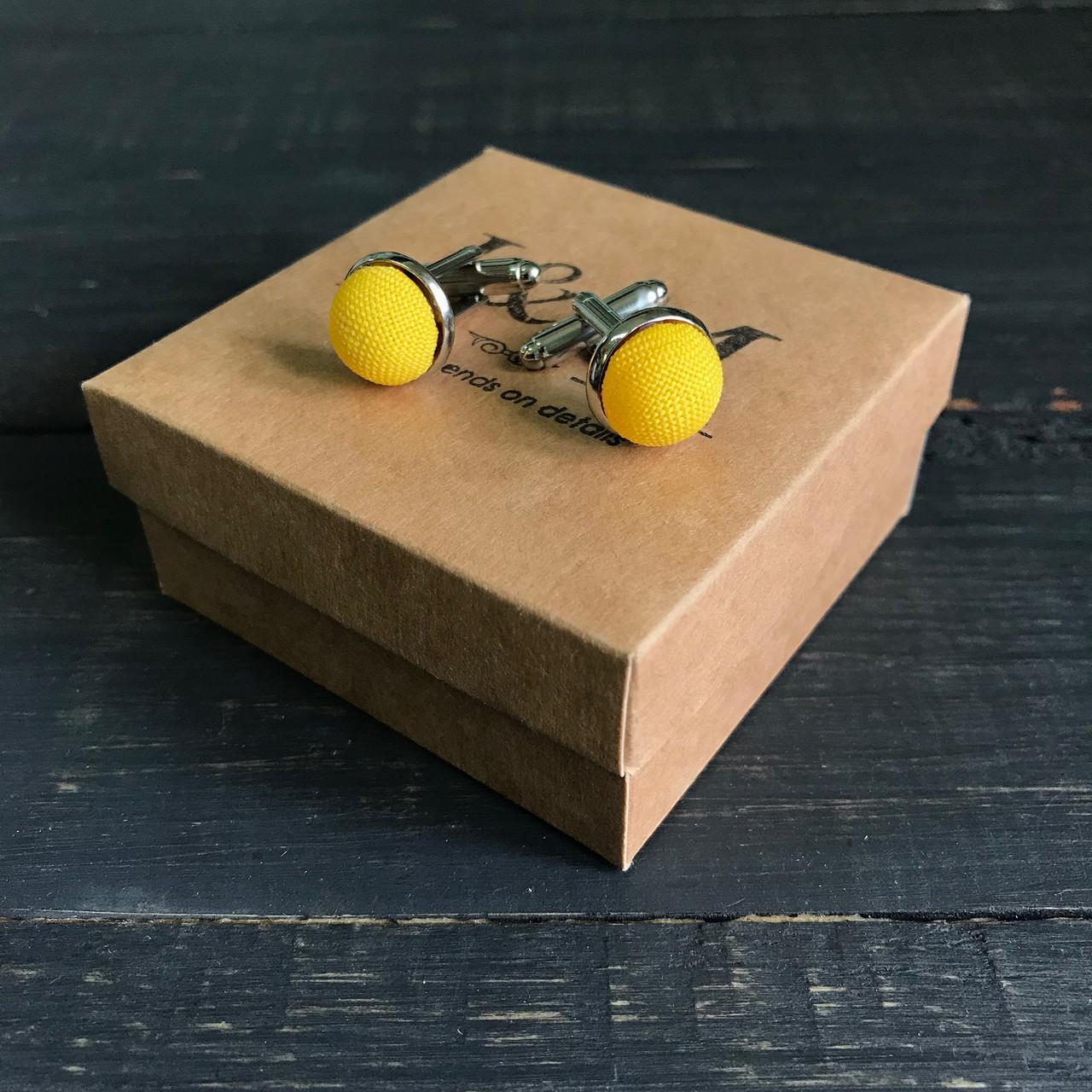 Запонки I&M Craft желтые (500101Z)