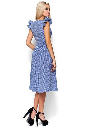 Женское летнее платье миди Karree Регина синяя клетка, фото 2