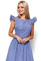 Женское летнее платье миди Karree Регина синяя клетка, фото 3