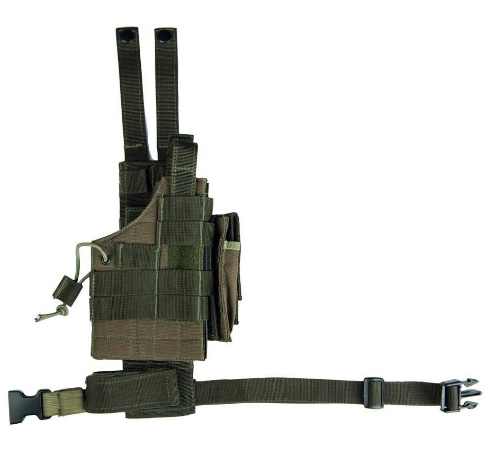 Кобура набедренная для пистолета универсальная улучшенная MilTec Molle Olive 16146001