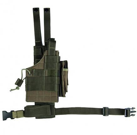 Кобура набедренная для пистолета универсальная улучшенная MilTec Molle Olive 16146001, фото 2