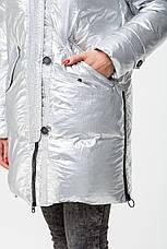 Зимний женский теплый пуховик MSD-S519 с натуральным мехом (енот), фото 2