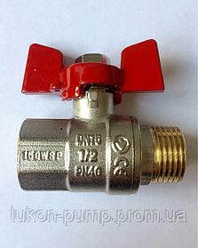 Кран шаровый 1/2 ВН (PN40) Люкон