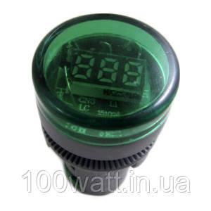 Сигнальная арматура с вольтметром зелёная ST 595 G