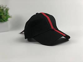 Кепка бейсболка Gucci с завязками (черная)