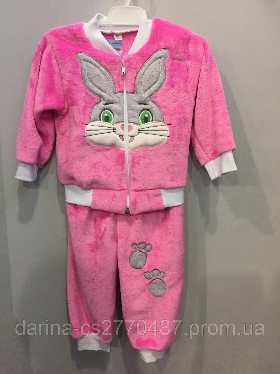 Махровый костюм с зайчиком для девочки