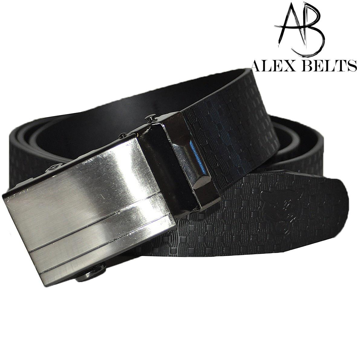 Ремень мужской брючный (черный) пряжка автомат металл заменитель 35 мм - купить оптом в Одессе
