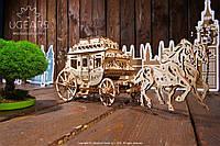 Рухливий механічний конструктор пазли 3Д «Поштовий диліжанс», фото 1