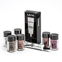 Праймер и глитер NYX Glitter Primer, 6 штук