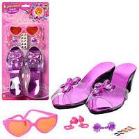 Дитячі туфлі M 0303 U / R красуня, створи свій стиль, туфлі 18 см, Окуляри, сережки, наклейки, розмір 38-19 см