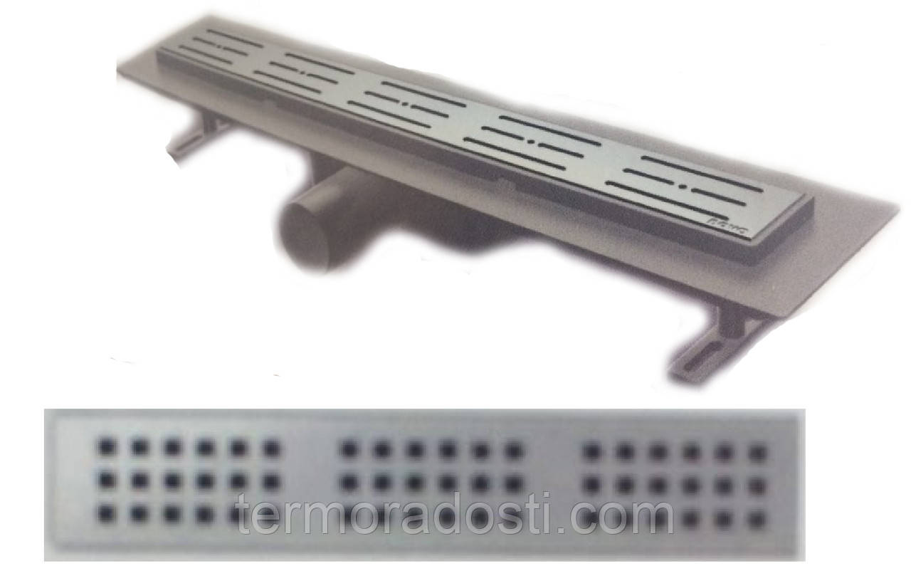Душевой канал Nova 5205(002)N (длина 80 см.,площадка под плитку, горизонтальный выход, D 50)