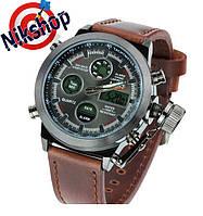 Мужские часы Amst (АМСТ) Коричневый