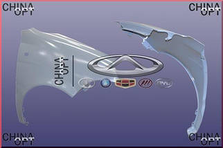 Крыло переднее правое, Chery QQ [S11, 0.8], S11-8403102-DY, Aftermarket