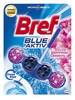 Средство для унитаза Bref Голубая Вода Свежие Цветы туалетные блоки, 50г