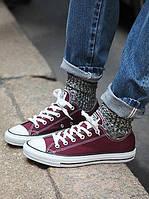 """Кеды мужские текстильные Converse Original Burgundy (с новым логотипом) """"Бордовые низкие"""" 43 р, фото 1"""