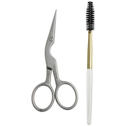Набор TWEEZERMAN Brow Shaping Scissor & Brush, фото 2