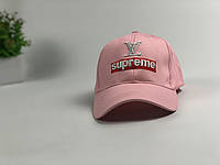 Кепка бейсболка Supreme Louis Vuitton с нашивкой (розовая)