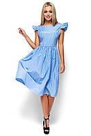 Женское летнее платье миди Karree Регина голубая клетка