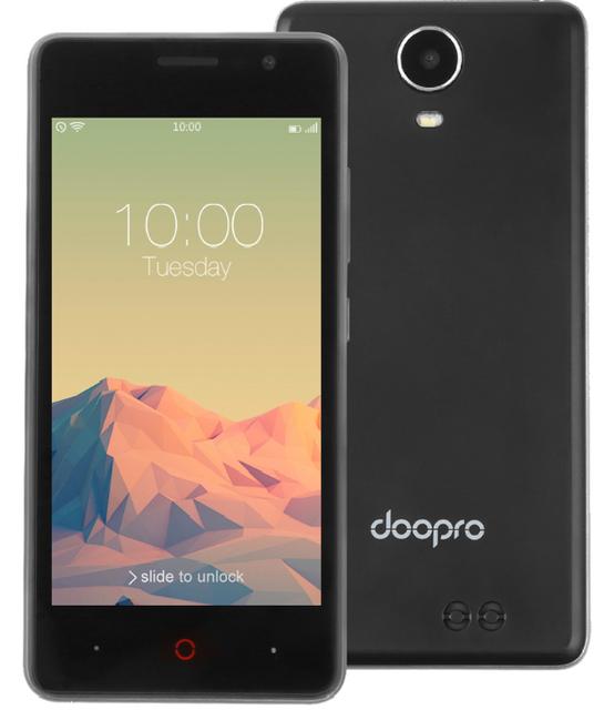 """Смартфон Doogee Doopro P4 1/8Gb Black, Gray, 5/2Мп, 4.5"""" IPS, 3200mAh, 2sim, MT6580, 4 ядра, 3G"""
