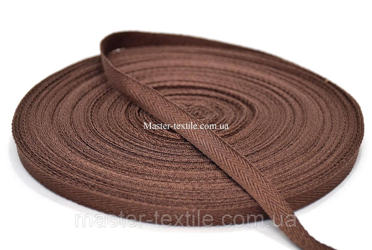 Киперная лента 1,5 см., 50 ярд. (коричневый)