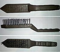 Щетка по металлу шестирядовая с ручкой