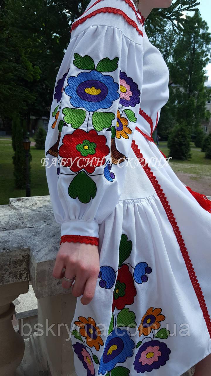 Заготовка жіночої сукні для вишивки нитками БС-135с