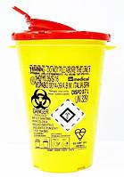 Контейнер для утилизации игл и медицинских отходов Dispo 0.7 л