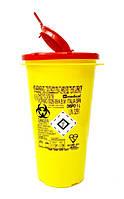 Контейнер для утилизации игл и медицинских отходов Dispo 1 л