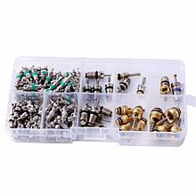 Комплект золотников для обслуживания автокондиционеров 134 штуки Spectr FR134