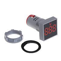 Вольтметр индикатор квадратный электронный красный ST880 R