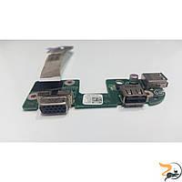 Плата з роз'ємами USB та VGA, для ноутбука Dell Inspiron N7010, DA0UM9IB6D0, Б/В
