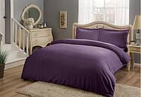 Постельное белье Tac Premium Basic Murdum фиолетовый евро размер