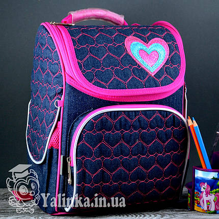 Рюкзак каркасный Hearts blue 555208 YES, фото 2