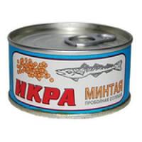 Икра Минтая пробойная, соленая производитель Авистрон 120 грамм